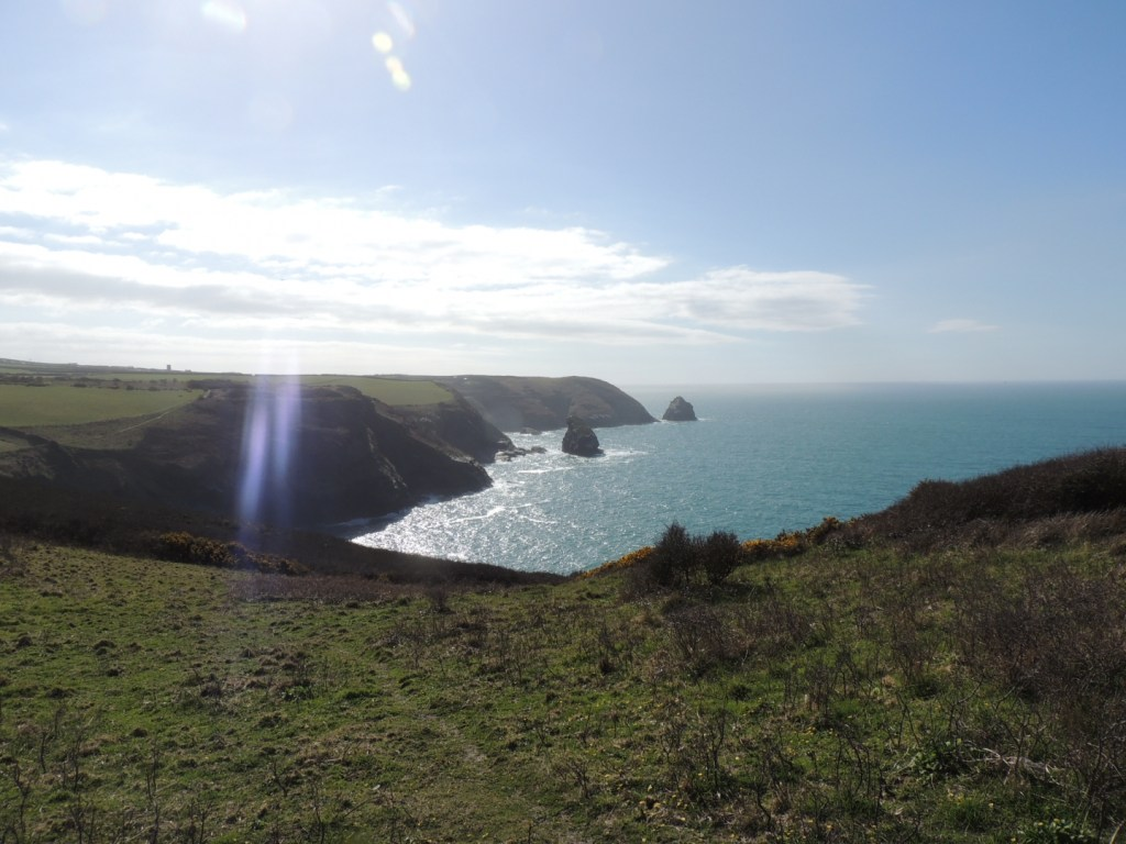 View of cliffs from Boscastle