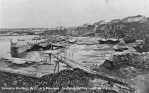 Newquay Harbour c1870