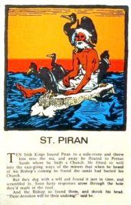 EARLY CORNISH LOOE LEGENDS POSTCARDS - St Piran