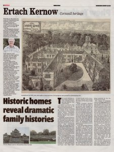Ertach Kernow - Historic homes reveal dramatic family histories - Truro Voice - 12082020