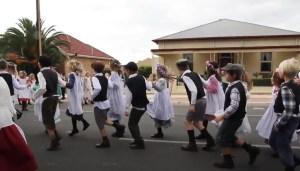 Flora Dance by Children in Moonta, South Australia