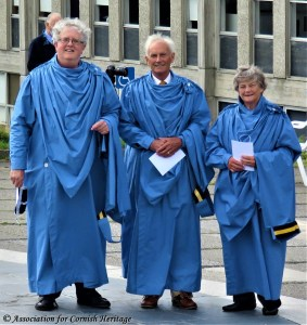 'Old Cornwall' New Bards Len Sheppard, Brian Jacobs & Priscilla Oates
