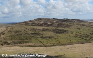 Brown Willy viewed from Rough Tor