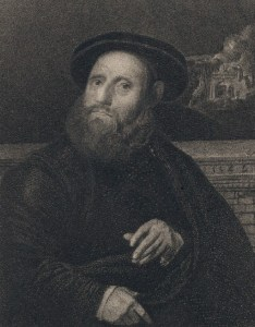 John Leland from painting by Hans Holbein