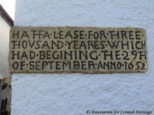 Stone in wall of house built in 1652