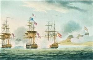 HMS Anson the capture of the frigate Pomona