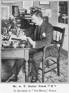 'Q' in his study at Fowey - 1905