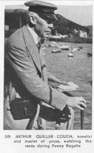 Sir Arthur Quiller-Couch watching Fowey Regatta 1933