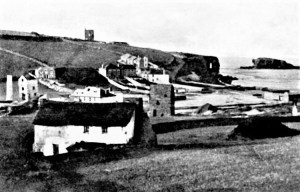 Perranporth showing mine worksings dated from c1850-1860s