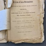 RCM - Conservation of an 1800s Cornish language dictionary