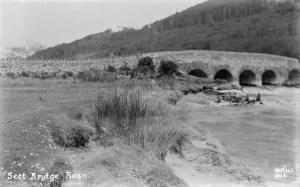 A view of Sett Bridge at Ruan Lanihorne from downstream on the Lamorran side. Photographer: Arthur William Jordan.