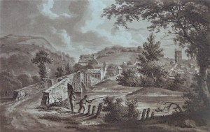 Engraving of St Austell c1803 published by Polwhele