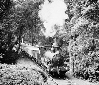 A train on the Bodmin-Wadebridge line in 1958