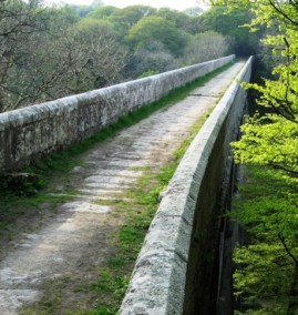 The tramway across the Treffry Viaduct