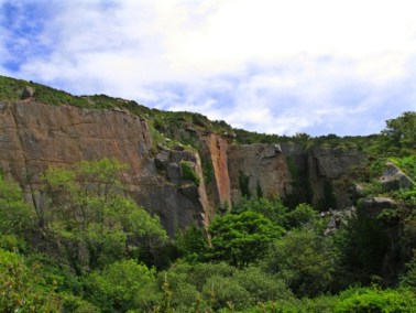 Abandoned granite quarry at Lamorna
