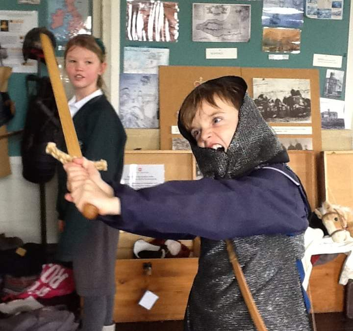 Perranporth School time travel from Tudor times to World War 2 at Pendennis Castle
