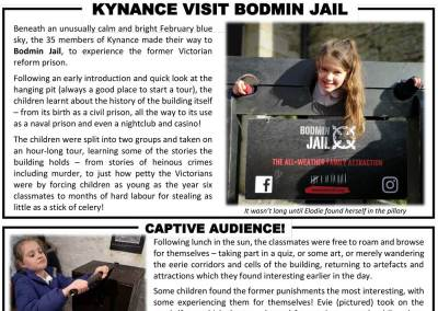Kynance School visit Bodmin Jail