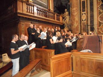 I cori di Viarolo e Bannone nella basilica di San Pietro a Roma, 2010