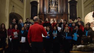 Il Coro di Viarolo e il Coro Shosholoza del Centro Interculturale di Parma e Provincia cantano in Santa Caterina per la Comunità di Sant'Egidio (18 marzo 2018)