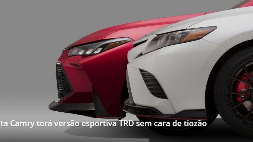 Toyota Camry Ganhará Versão Esportiva TRD