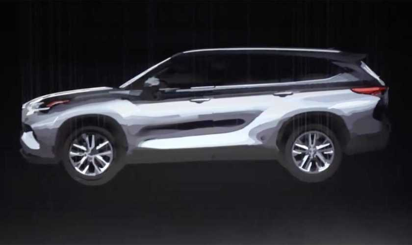 Toyota adiantou visual do novo HIGHLANDER 2020