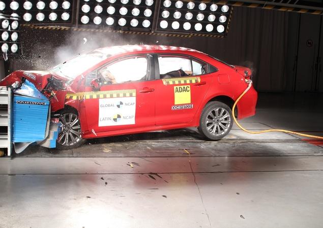 Toyota Corolla Recebe Nota Máxima nos Teste do Latin NCAP