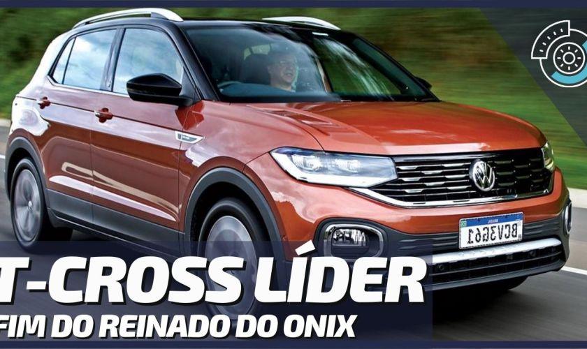 Volkswagen T-Cross Ultrapassa Chevrolet Onix e Fica na Liderança – Ranking Mais Vendidos Julho