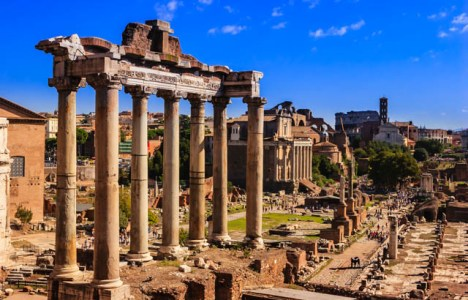 The Temple of Saturn - Rome a 6 Day Itinerary © Mano Chandra Dhas