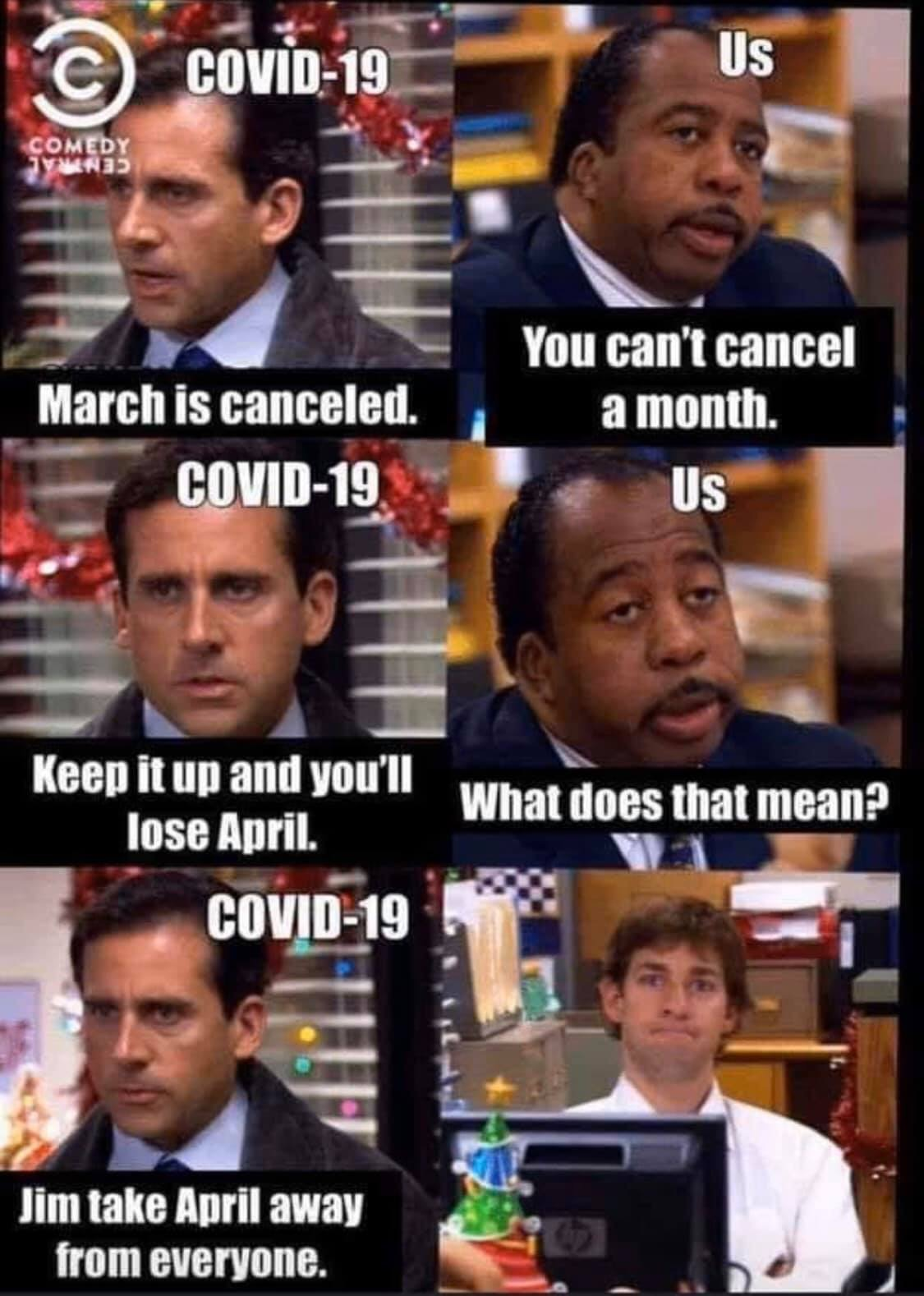 March is canceled – You can cancel a month – take away April