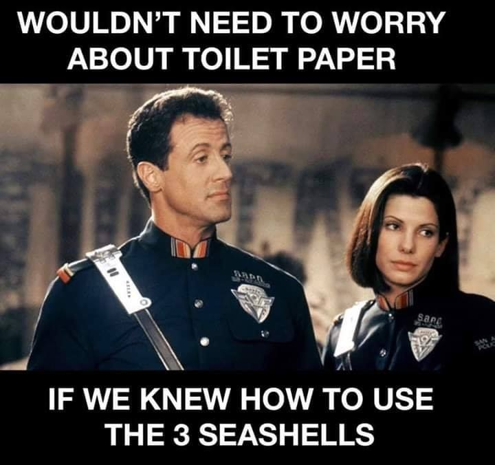 Wouldnt need to worry about toilet paper if we knew how to use the 3 seashells