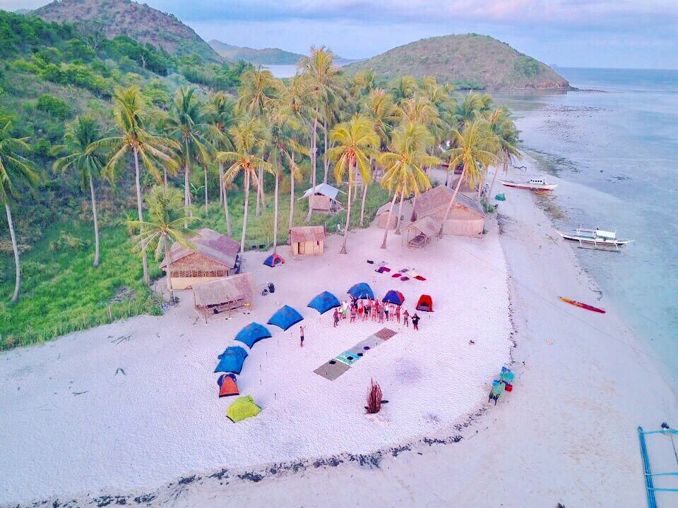 A camp site on the way of the Ultimate Adventure Tour in Palawan (Coron, Culion, Linapcan Islands, El Nido)