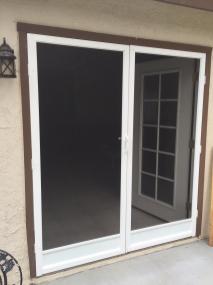 French door white Vista swinging screen doors