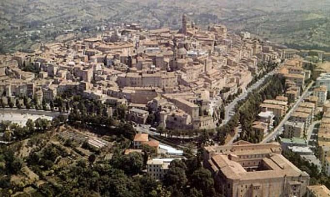 Il centro storico di Macerata visto dall'alto