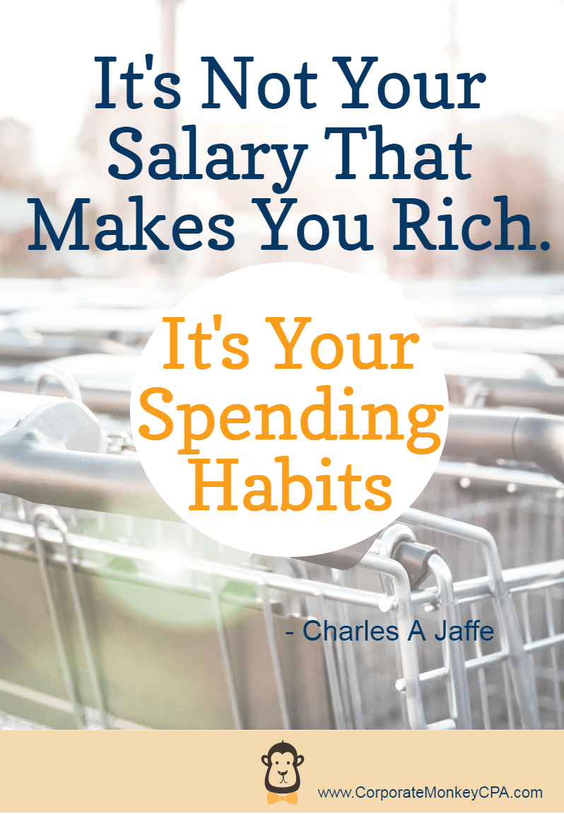 Money Quotes It's Not Your Salary That Makes You Rich. It's Your Spending Habits. Charles A Jaffe