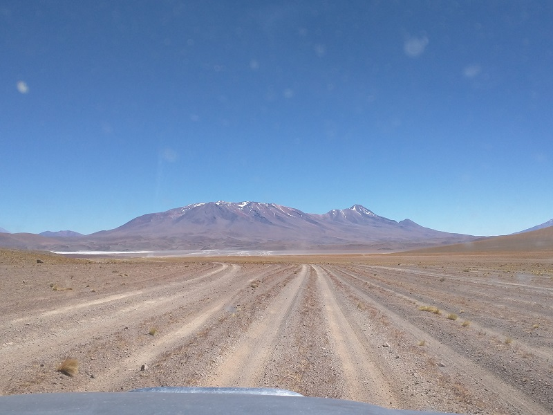 "The main ""road"" heading north to the Salar de Uyuni"
