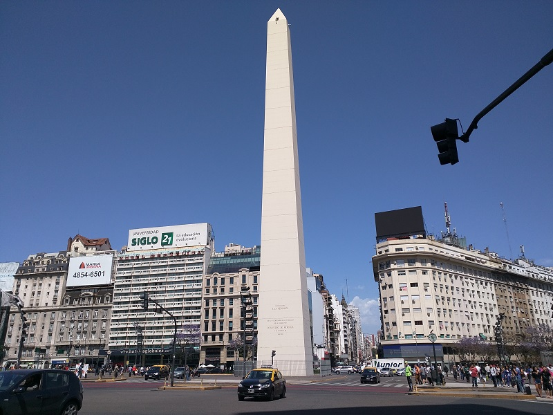 Buenos Aires with kids the obelisk