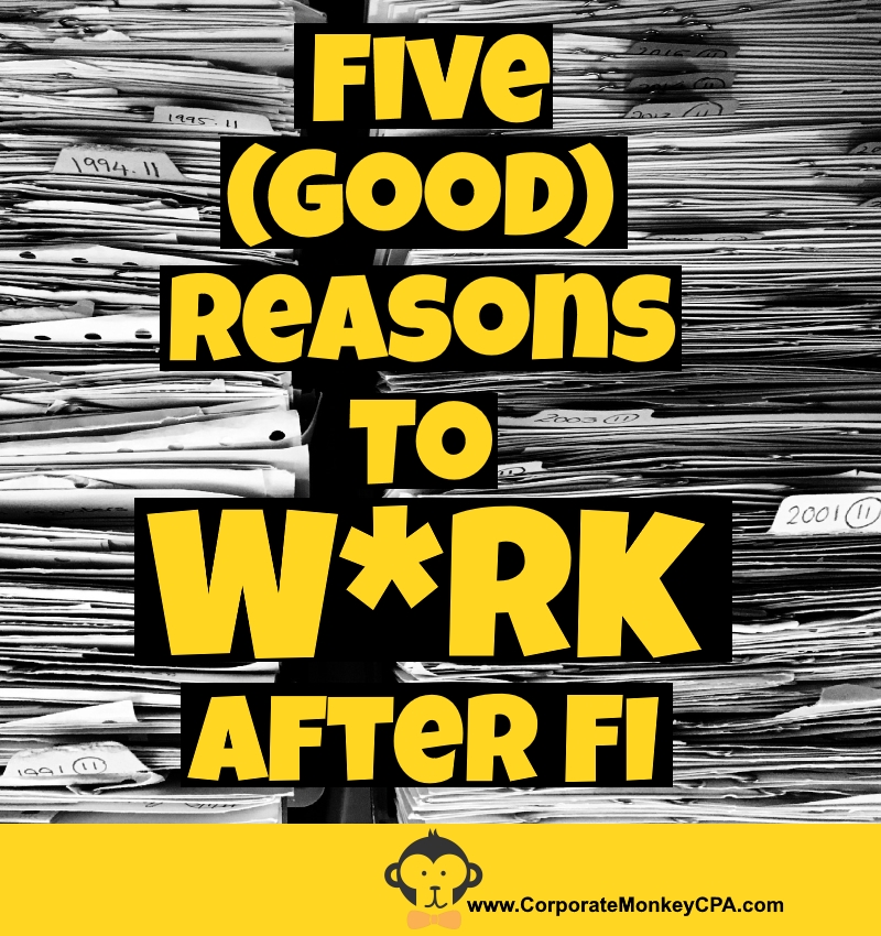 5 (Good) Reasons To W*rk After FI