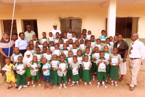 THIRD DISTRIBUTION ON TUESDAY, 26TH MAY, 2015 AT AUD PRIMARY SCHOOL, ISE ROAD, IKERE-EKITI, EKITI STATE f