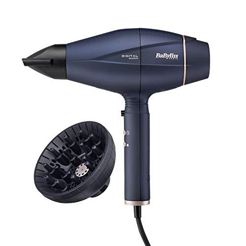 BaByliss Sèche-cheveux Smart Digital Sensor 2100W avec Technologie Ionique et Céramique Fabriqué en Italie