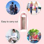 LTZB Décoration Accessoires Cheveux Coiffure Portable ABS Pliante Poignée de Maquillage Peigne Les Cheveux, Longueur: 18cm (Rose) (Color : Pink)