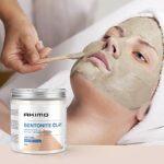 AKIMO 500 G Masque Argile Poudre Indienne Hydratant Visage Homme Femme – Masque de Beauté Faciale Maison Lutte Contre l'Acné Point Noirs