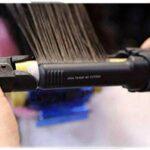 DLLY Fer à friser revêtement en céramique de Tourmaline 4D Fer à friser Moelleux avec Pointe Isolante Anti-brûlure pour Cheveux Courts et Longs