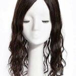 NOSSON Postiches pour Femmes, 5,5″X 5,5″ Couronne De Cheveux Humains Base en Soie pour Les Femmes avec des Pinces Amincissantes sur Les Postiches De Wiglet Haut Bouclé, 8″Noir Naturel