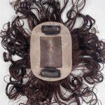 Remeehi Postiche à clips en cheveux humains bouclés Pour cheveux clairsemés