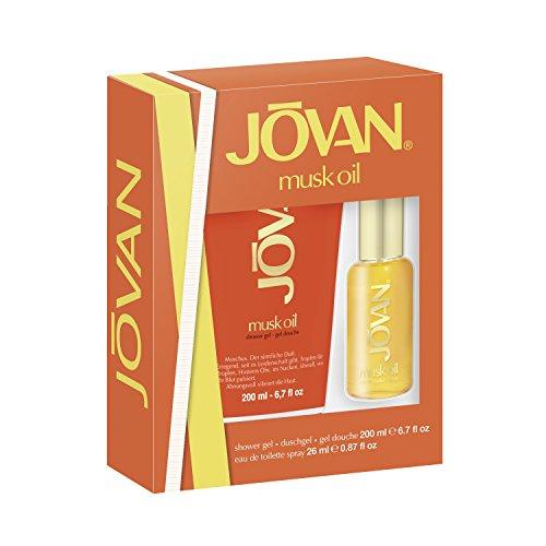 Jovan Musk Oil set cadeau pour vous EDT Spray 26ml+Gel douche 200ml