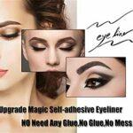 2020 Stylo Eye-liner Auto-adhésif Amélioré, Stylo Eye-liner 2 En 1 Stylo à Cils Liquides 3d Diamond Bling Glitter, Non Magnétique, Sans Colle, Longue Durée Pour Maquillage Yeux (Diamant)