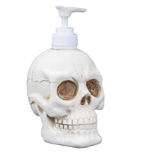 Bouteille liquide Distributeur Crâne vintage Forme Pompe d'aspiration lavage Crème Douche Corps Support Gel Conteneur de toilette liquide mise en bouteille 350ml Produits cosmétiques