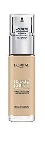 L'Oréal Paris – Fond de Teint Fluide Accord Parfait – Peaux Sèches à Normales – Teinte : Lin (1.5.N) – 30 ml