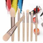 Pinceau D'ombre Professionnelle à Paupières Portables Tool De Maquillage à La Lèvre De La Lèvre De La Lèvre De La Lèvre D'abricot 7pcs