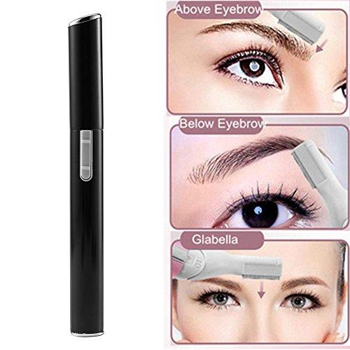 Tondeuse à sourcils, rasoir à sourcils indolore avec shaper pour sourcils, tête pivotante flexible, peigne guide et brosse de nettoyage des sourcils corps du visage